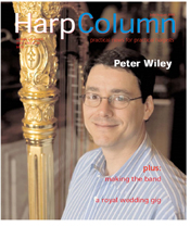 Peter Wiley featured on the front cover of July/Aug 2005 Harp Column